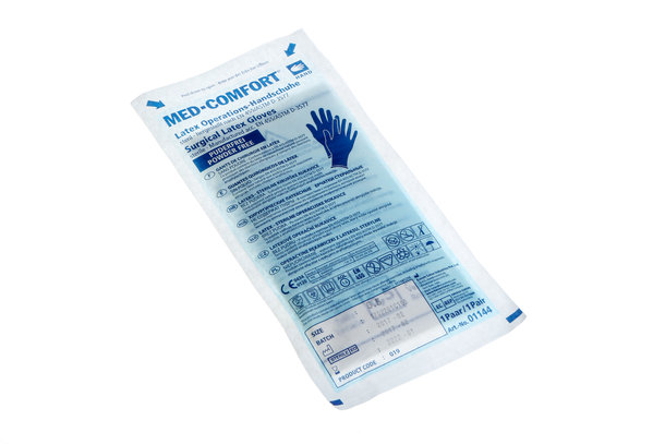 Med Comfort OP Handschuhe steril, weiß, puderfrei, diverse Größen